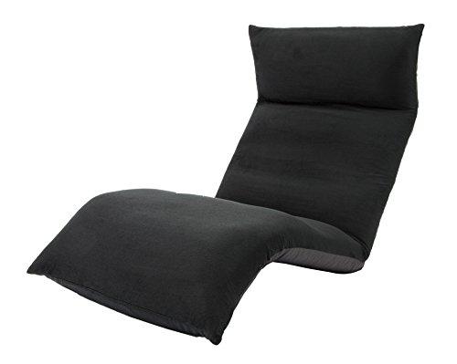 セルタン 日本製 高反発 座椅子 和楽の雲 LIGHT 下タイプ テクノブラック 頭部脚部リクライニング A448下a-267BK