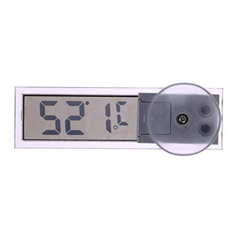 newhashiqi termómetro con Ventosa para Coche, Transparente, Cristal líquido, Ventosa, termómetro medidor...