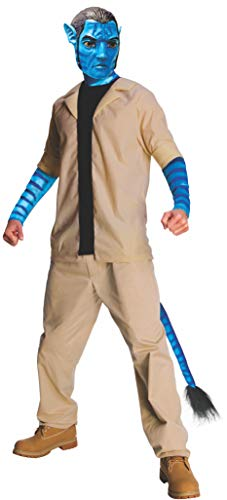 Avatar Jake Sully Costume And Mask, Blue, X-Large