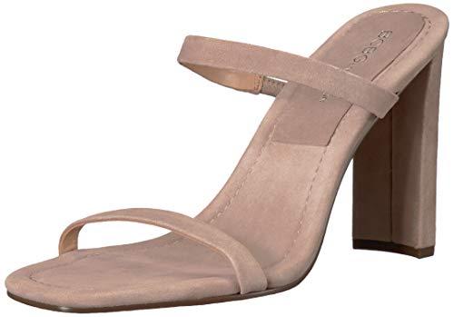 BCBGeneration Women's Whitney Sleek Mule Heeled Sandal, Light Taupe, 8.5 M US