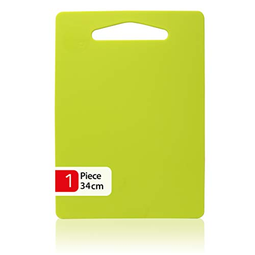 ZYBUX - Chopping Board - 34 x 24cm - Plastic Cutting Board BPA Free, Professional Kitchen Cutting Boards with Hanging Hole - Dishwasher Safe - Durable - Green