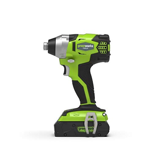 Greenworks Akku- u. Bohrschrauber GD24ID (Li-Ion 24V 300 N.m Drehmoment 2800 Umdrehungen/Min 6,35mm Schaftdurchmesser leistungsstarker brushless Motor ohne Akku u. Ladegerät)