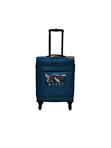 New FANTANA Cabin Luggage/Suitcase RFID Blocking Spinner Cases with TSA Lock (Teal, Cabin - 18' - 55 x 38 x 20cm)