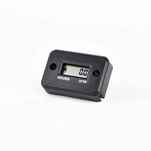Runleader Digital Induktive Betriebsstundenzähler, Wartungsstundenzähler für Reiten Rasenmäher Traktor Holzspalter Boot Außenborder Motor Marine Wechselrichter Generator ATV Dirt Bike (HM006A-BK)