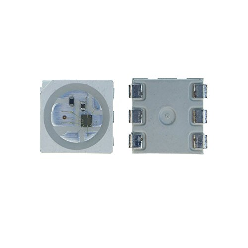 ALITOVE 100pcs WS2813 WS2813B 6 PIN 5050 RGB LED Chip SMD Dual-signal wires version Signal Break-point Continuous Transmission Built-In Individual Addressable Digital LED Light 5V White Version