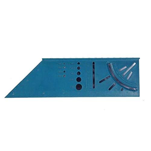 Case Cover 90 Grad-Winkel-Messgerät Kunststoff Holz Dreidimensionales Platz Lineal zur Holz Subscriber T-Typ Multifunktions-Werkzeug zur Holz Protractor