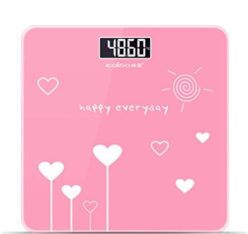 WZLJW Sufengshop hogar precisión de pesaje electrónico Escala Cuerpo de la Escala electrónica de la Escala Regalo Rosa del Amor ggsm