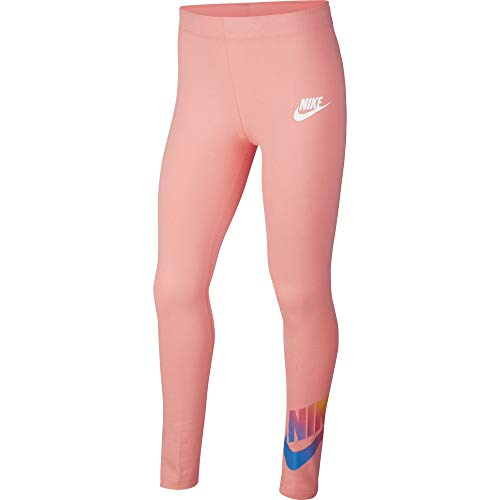 Nike Mädchen Favorites Ff Leggings, Pink Gaze/White, M