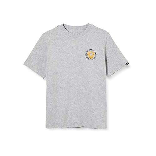 Vans Old Skool V SS Boys T-Shirt, Grigio (Athletic Heather ATH), Medium Bambino