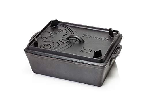Petromax Kastenform K8, Bräter mit Deckel, Auflaufform, Brotbacktopf aus Gusseisen