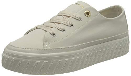 Tommy Hilfiger Shiny Flatform Vulc Sneaker, Scarpe da Ginnastica Donna, Colomba Bianca, 38.5 EU
