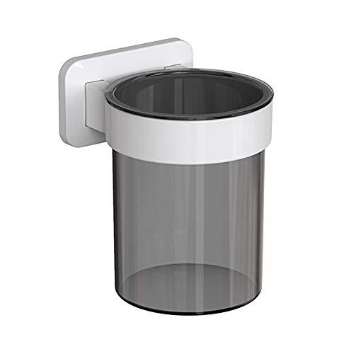 Cuisine usine directe salle de bain étagère couverts cylindrique gant eau paroi perforée cylindrique Brosse à dents for les pots gratuit (Color : White+grey)