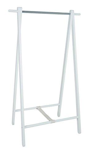 Haku portant en bois massif laqué blanc, 88x50x152