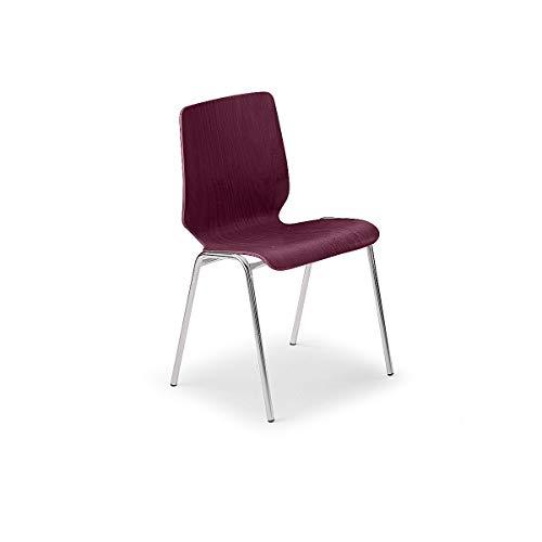 Chaise coque en plastique - sans rembourrage - coque jaune brillant/lot de 4 - Chaise Chaise coque Chaise en plastique Chaises Chaises coque Chaises en plastique Salle de détente Salles de détente