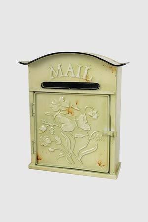 Vintage Home nostalgische brievenbus Vecchia brievenbus antiek groen shabby chic metalen doos H 32 cm