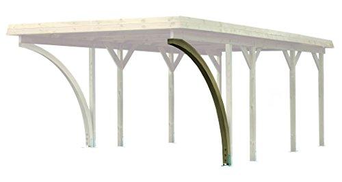 Karibu Einfahrtsbogen aus kdi für Carport 9 x 9 cm