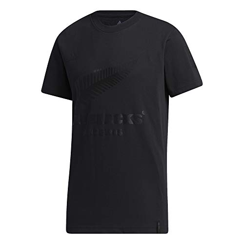 Adidas All Blacks New Zealand - Maglietta per tifosi (M, nero)