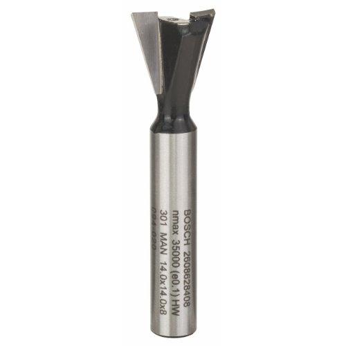 Bosch Professional Bosch Professional Zubehör 2 608 628 408 Zinkenfräser 8mm, D1 14,0 mm, L 14,0 mm, 15°