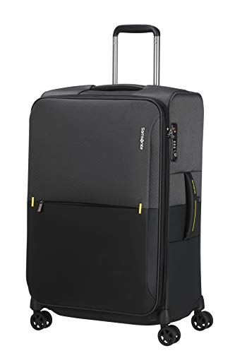 Samsonite Rythum - Spinner M Expandable Suitcase, 67 cm, 70/76 Litre, Multicolour (Graphite)
