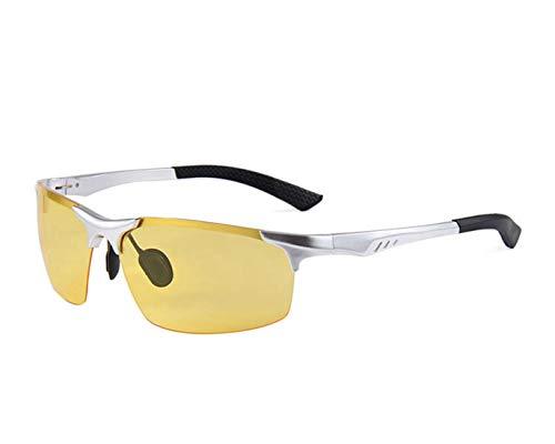 Mode Brillen Halb-randlose Herren-Sport-Sonnenbrille Aluminium und Magnesiumrahmen polarisierte Sonnenbrille UV-Schutz-Sonnenbrille für das Fahren von Reisen Baseball Laufen Radfahren Angeln Golf. Occ