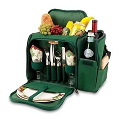Picnic Time 508-23-123-000-0 Malibu - Green W/Grape Deluxe Tote