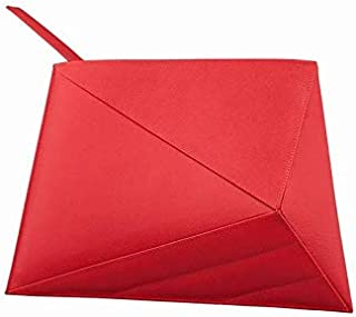 Kaizer KB2120RED Leather Clutch for Women - Red