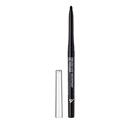 Manhattan Endless Stay Waterproof Gel Eyeliner – Schwarzer Gel Eyeliner mit herausdrehbarer Mine...
