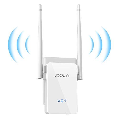 JOOWIN Ripetitore WiFi Wireless 300Mbps WiFi Extender Wireless velocità Single Band 2.4GHz Amplificatore Segnale Wi-Fi Porta LAN, 2 Antenne, Pulsante WPS, modalità Ripetitore/Router/AP