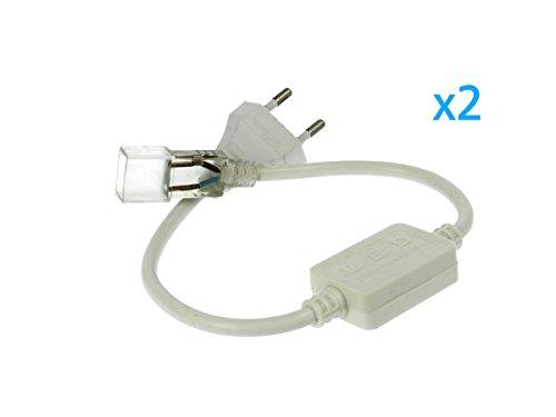 LEDLUX CL2202209 Spina Alimentatore Trasformatore Raddrizzatore 2 Pin Passo 9mm Per Bobina Led 220V Mono Colore Trasforma Da AC220V a DC220V - 2 Pezzi