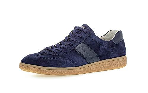 Gabor Pius Herren Halbschuhe, Männer Sneaker Low,Wechselfußbett,zertifiziertes Leder,straßenschuhe,Freizeitschuhe,maennlich,Jeans,43 EU / 9 UK