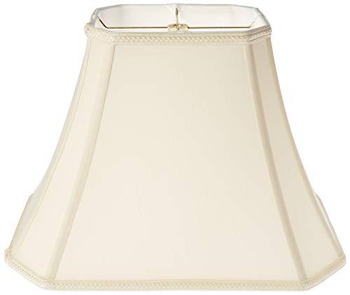 Royal Designs Lampenschirm, rechteckig, Glocke mit geschliffenen Ecken, antikes Gold, 6,25 x 8 x (11 x 16) x 12 Stück, eierschalenfarben, 16 in.