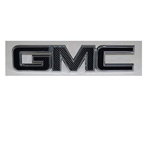 Shop Vinyl Design GMC Front or Rear Emblem Overlay Kit DIY, Sierra, Denali, Yukon, Acadia, Terrain, 3M Black Carbon Fiber - Free Sheet