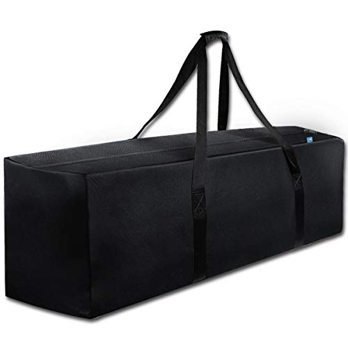 COOLBEBE 47' Sports Duffle Bag - Extra Large Travel Duffel Luggage Bag with Upgrade Zipper, Durable & Water Resistant, Black