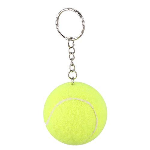 Vaorwne Gelb 4cm Durchmesser Elastik Schaum Tennis Ball Schluesselring Schluesselanhaenger
