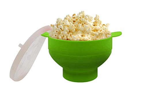 Purchase New Popcorn Microwave Silicone Foldable Red Kitchen Easy Tools DIY Popcorn Bucket Bowl Make...