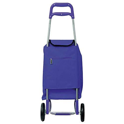 MAURER 5151005 Carro de Compra Azul 2 Ruedas 45 litros, Metal
