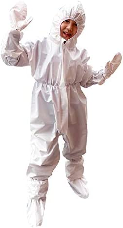 Children Disposable Protective Coverall with Elastic Wrists Ankles and Hood Non Porous Anti product image