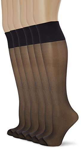 Dim Beauty Resist Calcetines, 20 DEN, Negro (Noir 0hz), Talla única (Talla del fabricante: 35/41) (Pack de 6) para Mujer