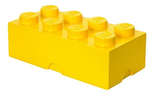 Grande brique de rangement empilable Jaune - Lego Décoration
