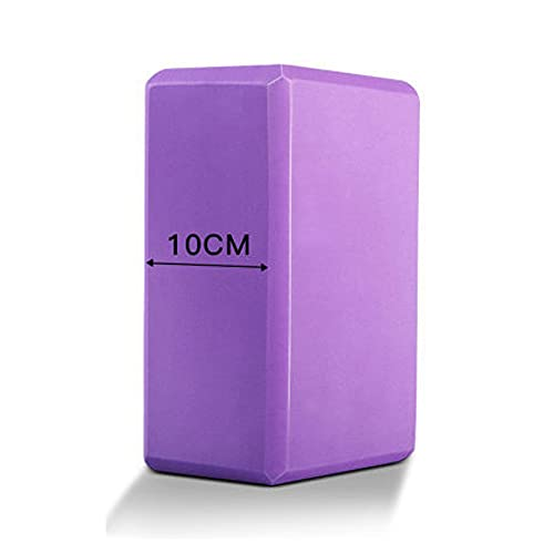 QGSM Ladrillo De Yoga Engrosado 10 Cm De Alta Densidad para Niños Suministros De Práctica De Espuma De Baile Ayudas para Yoga púrpura 23X16X10CM