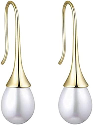 NC110 Collar con Colgante Par de aretes de Perlas para niñas Mujeres Joyería Pendientes de Temperamento Accesorios Cajas de Regalo de Gama Alta YUAHJIGE