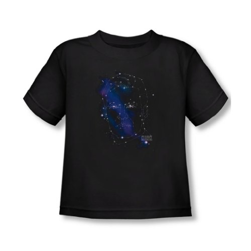 Star Trek - - Toddler Kirk T-shirt Constellations, 2T, Black