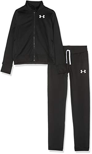 Under Armour Mädchen Trainingsanzug Em Knit Track Suit, Schwarz, YSM, 1347741-001