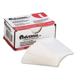 Universal UNV84642 100 per Box Clear Laminating Pouches, 2 1/4-Inch x 3 3/4-Inch - 2 pack