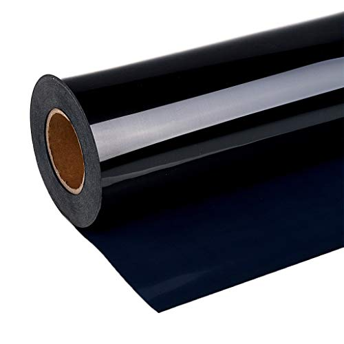 [Ship from US] 1 Roll Heat Transfer Vinyl 12 Inch by 10 Ft Iron on Vinyl HTV for T-Shirts, Clothing, Hats, Jeans Compatiable with Cricut Camero Heat Press Machines Sublimation (Black)