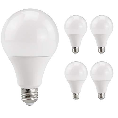 MENGS 5-er Pack E27 LED Glühbirne 15W LED Birne Ersetzt 120W Glühlampen 1300 Lumen A60 Leuchtmittel E27 2800 Kelvin Warmweiß 180 Grad Abstrahlwinkel, Nicht Dimmbar, AC 220-240V