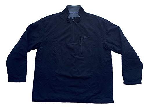 IZOD Men's Performance Fleece Lined Quarter-Zip Pullover Jacket (Black, XX-Large)