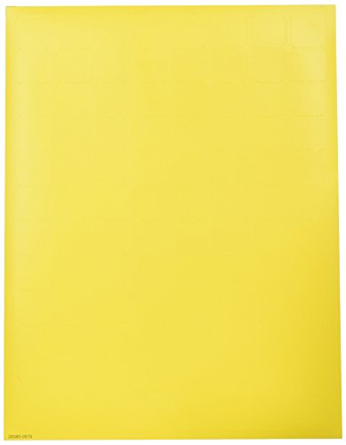 Diversified Biotech Tough-Tags MISL-1000-Y Microscope Slide Label, 0.875' Length x 0.875' Width, Yellow (Pack of 2400)