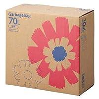 TANOSEE ゴミ袋 コンパクト 透明70L BOXタイプ 1セット(440枚:110枚×4箱) 〈簡易梱包