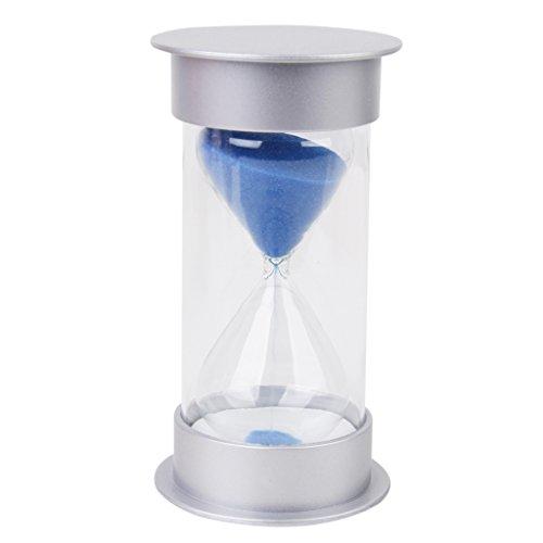 【ノーブランド品】砂時計 タイマー サンドタイマー 透明感 5/10/15/30分計 (30分計, 青)